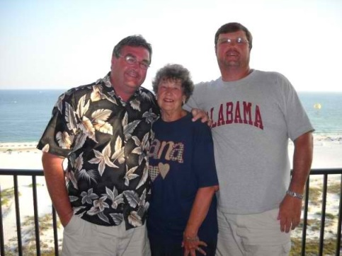 Me and my brother, Hoss, with my Mom.