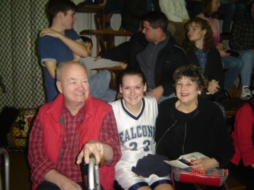My Dad and Mom at Ashley's last high school basketball game.