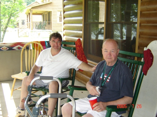Me and Dad after he had a stroke, but still with a big heart for everyone.