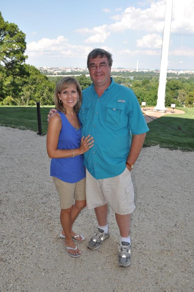 Paula and I at Robert E. Lee's home in Arlington, Virginia overlooking D.C.