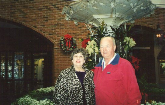 Mom and Dad at Opryland Hotel on one of his bus trips.   This was one of their favorite places to go.   This picture was taken about 10 months before Dad's stroke.