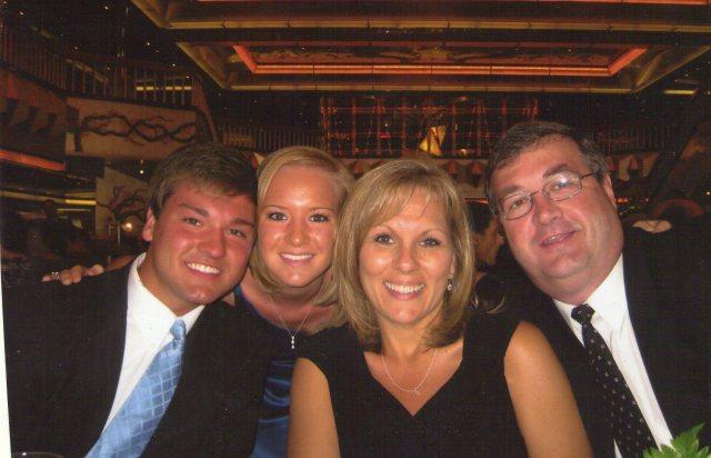Jordan, April, Paula and I at formal night on a cruise.