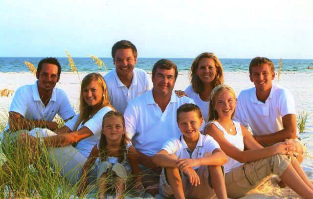 Taken at one of our favorite places - Orange Beach, Alabama.  We have so many precious memories that we will carry for the rest of our lives.   I love my family.   They grow up so fast.    These were special days for Paula and me.