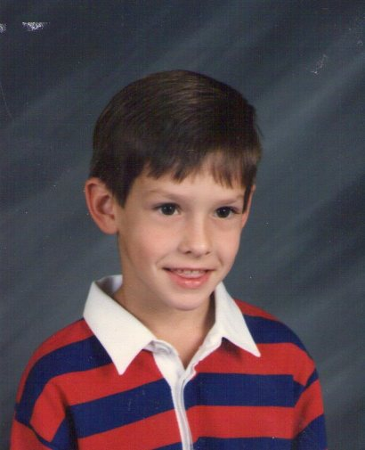 Our oldest child, Jeremiah.   His kindergarten picture in 1990.
