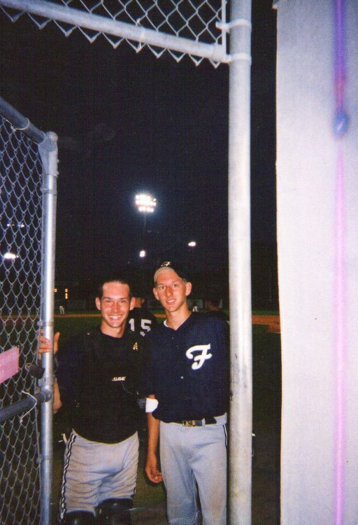 Jeremiah and Jon played baseball together from tee-ball to Little League to High School and in college.   Sometimes JD would catch and Jon would pitch and sometimes Jon would catch and JD would pitch.   What a special time of life that was for our family.