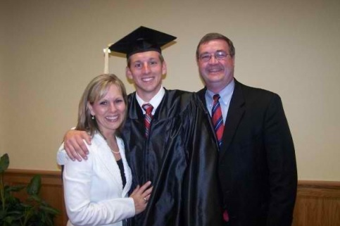 At Jon's graduation from college, a special day for all of us.