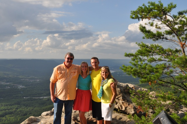April, Jon, Paula and myself on top of Lookout Mountain overlooking Civil War battlefields in Chattanooga, Tennessee.