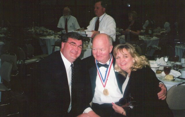 Melanie and myself with Dad at his induction into the Madison County Athletic Hall of Fame.