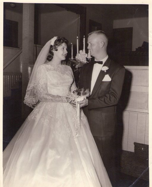 Mom and Dad on their wedding day, December 6, 1956.