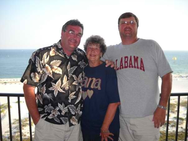 Mom with me and Hoss at Orange Beach, one of our favorite places to go.