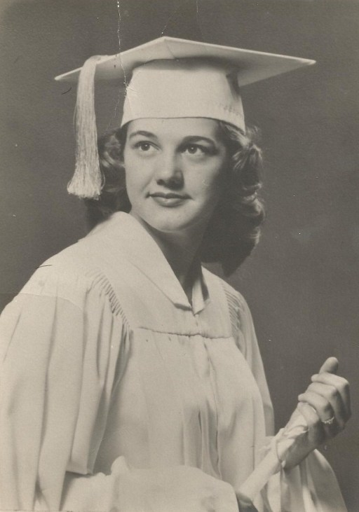 Mom's graduation picture from Butler High School in 1956.