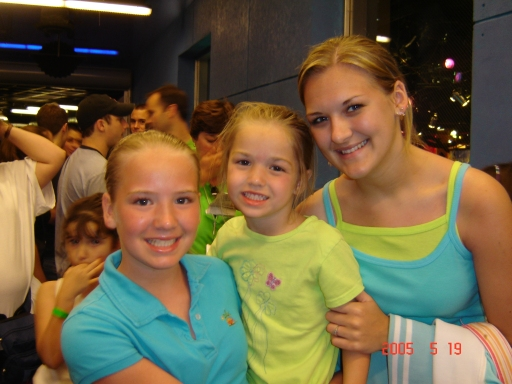 My sweet girls, April, Aubrey, and Ashley at Disney World in 2005.