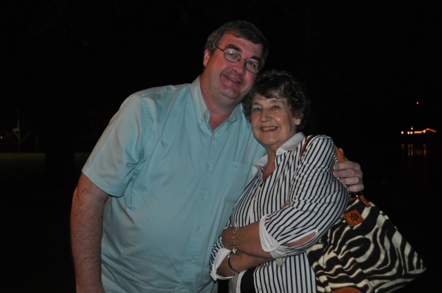 """Mom and me at """"Top of the River"""" Restaurant in Guntersville in the summer of 2011."""