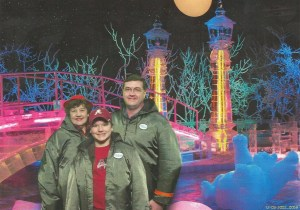 Mom, Jordan and myself at the Ice Carvings in Nashville, Tennessee.   Taken in December, 2002.