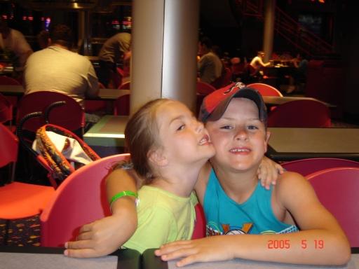 Aubrey (4)  and Jake (9), 2005.