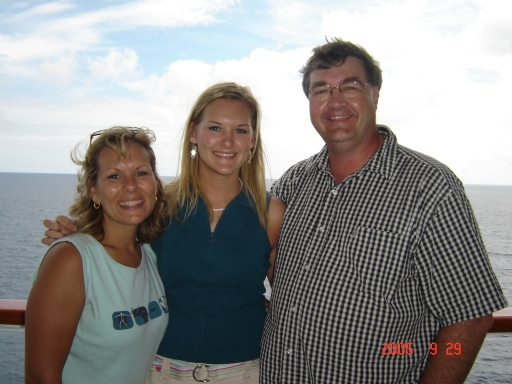 On a cruise to Bermuda with Paula and Ashley.