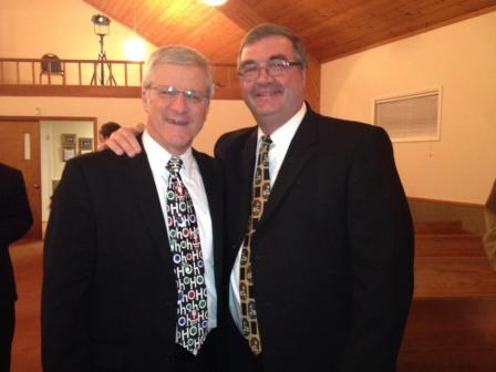 Tim Coley, a colleague, and myself.  Tim has a humble spirit and is a great friend to me and all that know him.