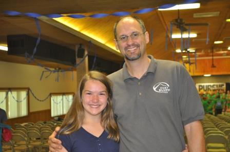 Aubrey with Dave Sekura, one of my kid's heroes and my dear friend.