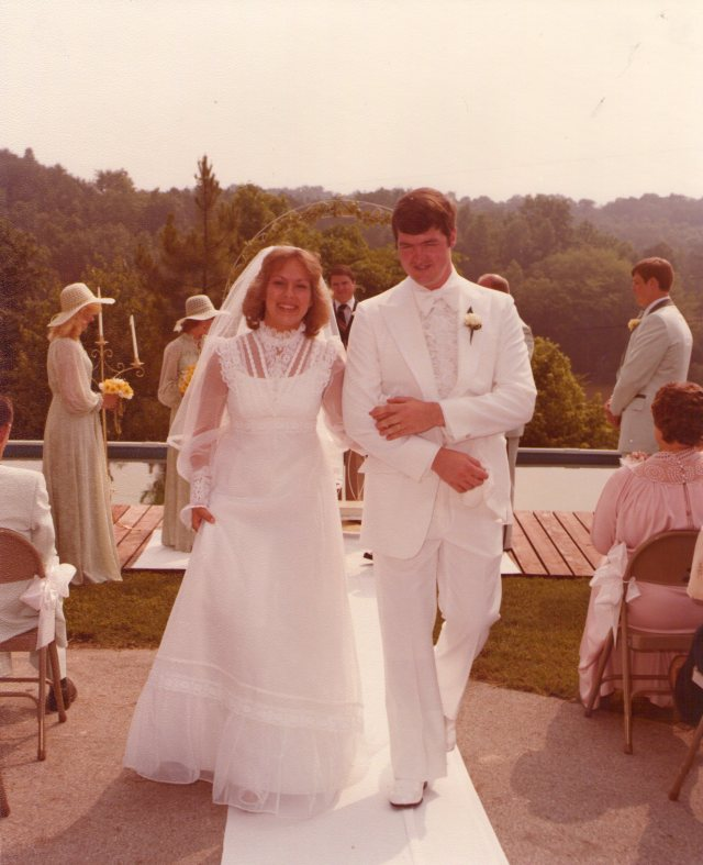 Our wedding on June 2, 1979.