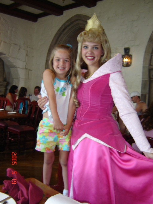 Aubrey with Sleeping Beauty.